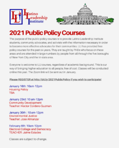 2021 Public Policy Courses
