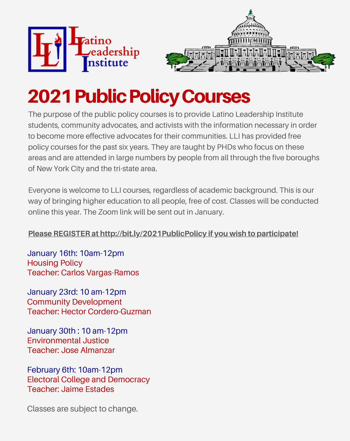 Public Policy Courses Week 4