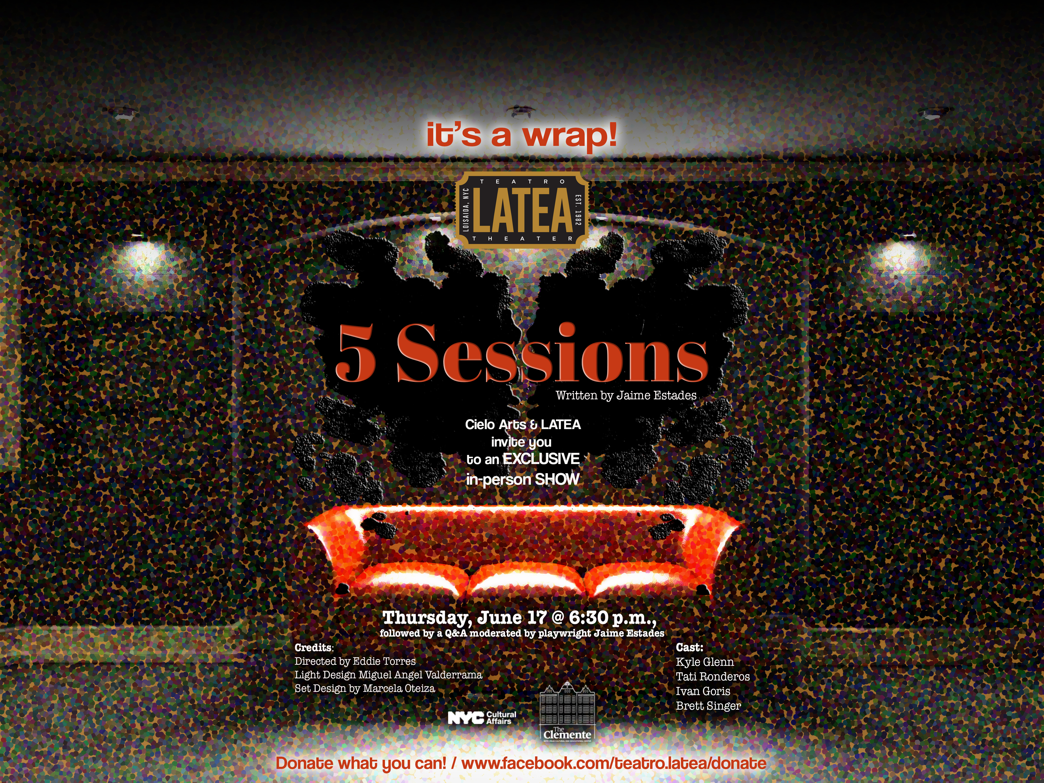 IT'S A WRAP! Free Five Sessions Play Showing